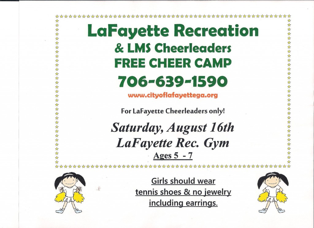 Cheerleading Camp Ages 5-7 8-9