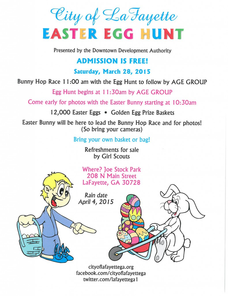 3rd annual City Easter Egghunt @ Joe Stock Park | LaFayette | Georgia | United States