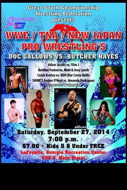 Pro Wrestling Event @ LaFayette Municipal Park | LaFayette | Georgia | United States