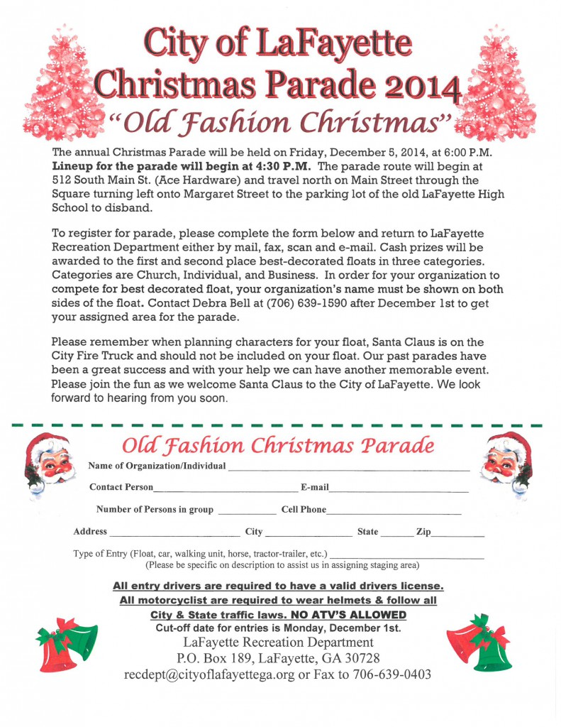 Christmas Parade Application