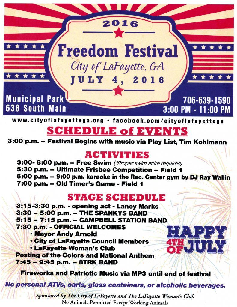 Freedom Festival Flyer 2016